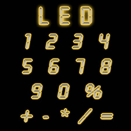 indicator board: Led numbers yellow on a black background