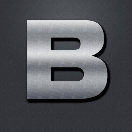 chromium: Letter shabby metal chromium. Letter shabby metal B Stock Photo