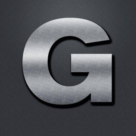 chromium: Letter shabby metal chromium. Letter shabby metal G Stock Photo