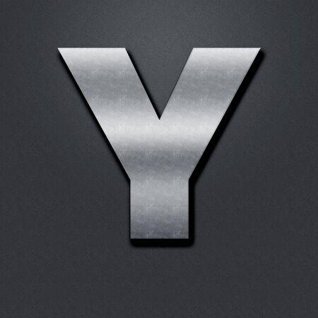 chromium: Letter shabby metal chromium. Letter shabby metal Y