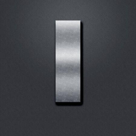 chromium: Letter shabby metal chromium. Letter shabby metal I