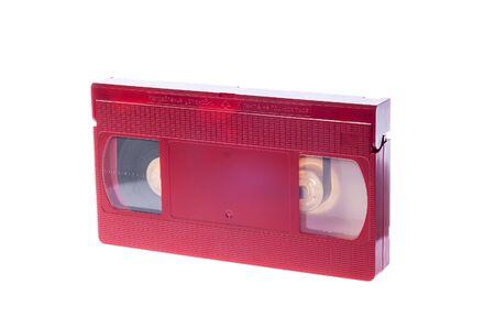 videocassette: Video cassette isolated on white background. Video cassette
