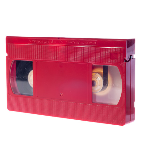 videocassette: Video cassette isolated on white background. Video cassette