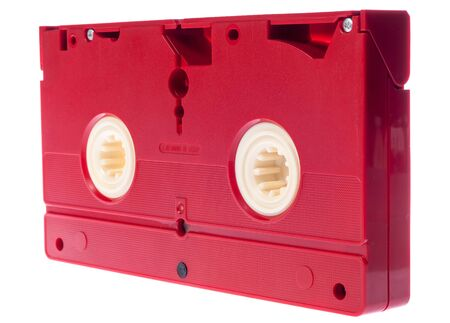 vcr: Video cassette isolated on white background. Video cassette