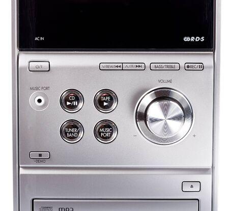 equipo de sonido: estéreo compacto cd sistema y reproductor de casetes. sistema estéreo compacto