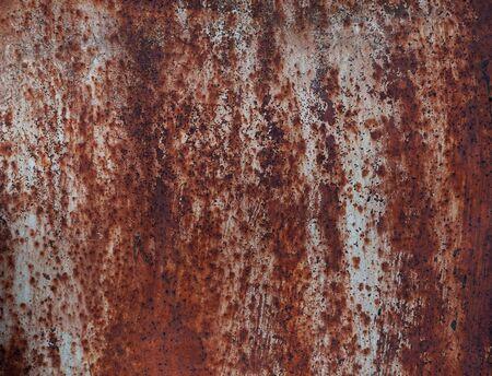 rust red: Steel walkway mats sprayed red rust. Iron surface rust