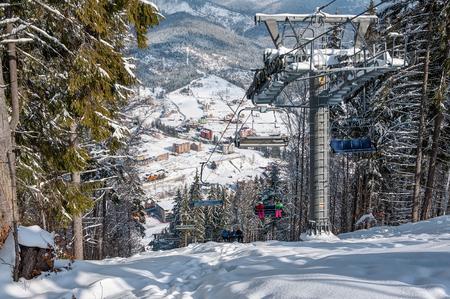Winter ski resort in The Ukrainian Carpathian mountains, Bukovel.