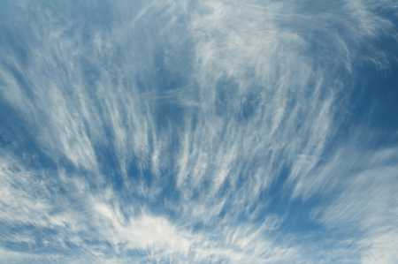 Beautiful white clouds against the blue sky. Texture of clouds.