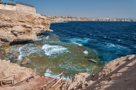 Holidays in Egypt. Summer vacation in Sharm El Sheikh. The Egyptian red sea. 版權商用圖片