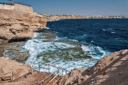 Holidays in Egypt. Summer vacation in Sharm El Sheikh. The Egyptian red sea 版權商用圖片