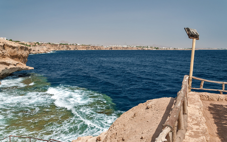 Holidays in Egypt. Summer vacation in Sharm El Sheikh. The Egyptian red sea. 版權商用圖片 - 119134666