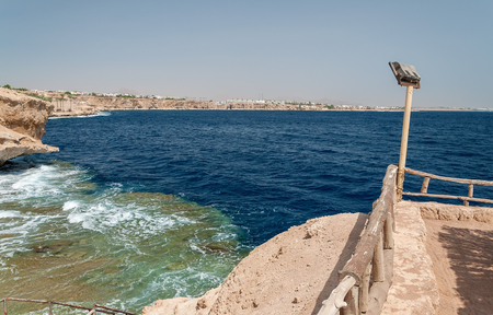 Holidays in Egypt. Summer vacation in Sharm El Sheikh. The Egyptian red sea. Archivio Fotografico