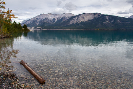 abraham: View of Abraham Lake from the shore.