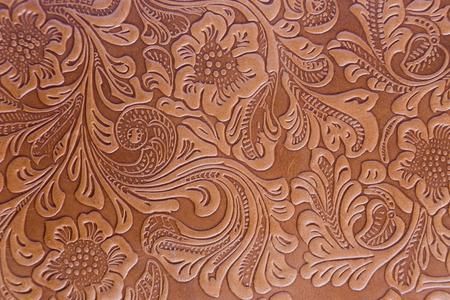 imprimé floral en cuir