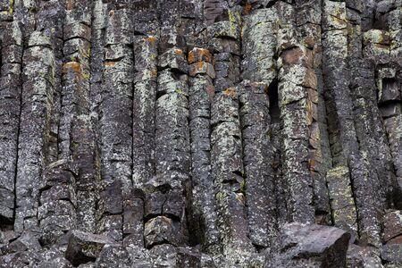 Closeup della pietra che compone Sheepeater Cliff