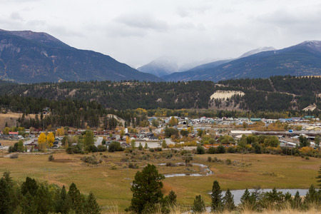 The town of Invermere B.C. Canada. Stok Fotoğraf
