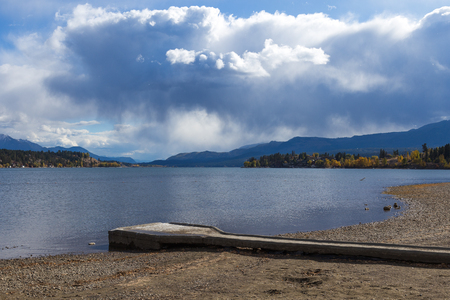 View of Kinsmen Beach in Invermere BC.