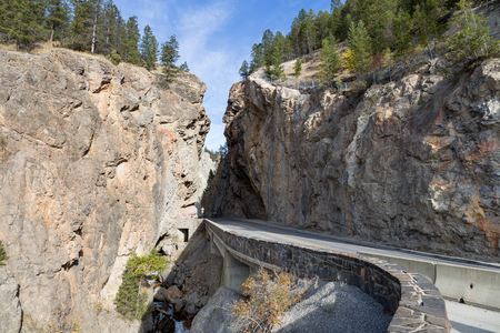 View of Sinclair Canyon near Radium Hot Springs BC. Stock Photo