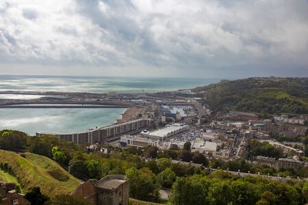 View of the town of Dover in England. Stok Fotoğraf