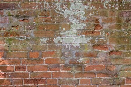 An old and grungy looking brick wall.