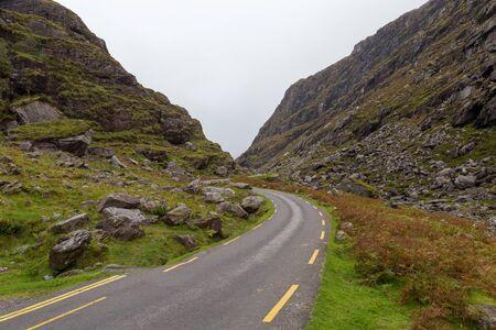 A road winding through the gap of Dunloe