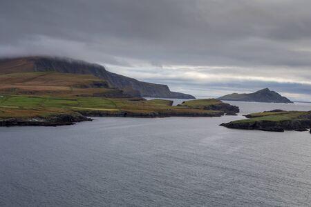 Mist at the Cliffs of Kerry Stok Fotoğraf