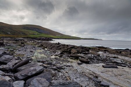 An Irish rocky beach Stok Fotoğraf
