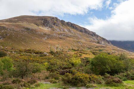 a mountain in the Irish countryside. Stok Fotoğraf