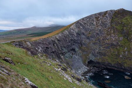 Meadow at the Cliffs of Kerry Stok Fotoğraf