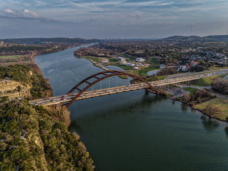 Pennybacker Bridge in Austin,Texas