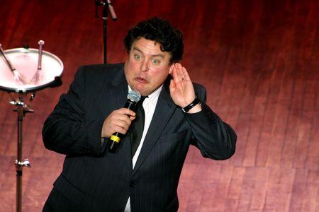 sean:  Vancouver, British Columbia, Canada ? 30 gennaio 2010 - Sean Cullen, comico, eseguendo il suo atto a