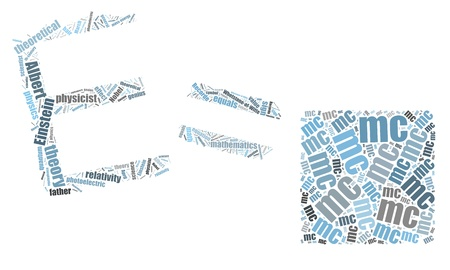 E=mc2 word cloud  photo