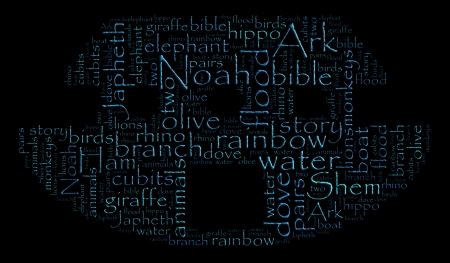 Word cloud image of Noah s Ark photo