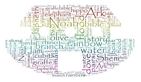 Noah s Ark Rainbow Word Cloud Stock fotó