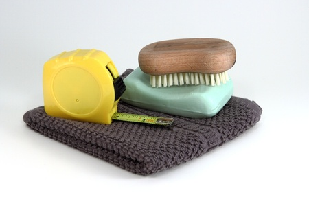 Simple and rugged clean up items used by men to clean themselve up from a construction mess
