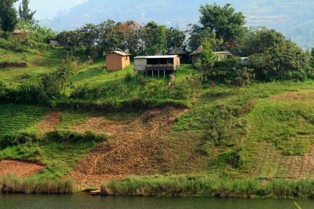 bunyoni: A small rural farm located on Lake Bunyoni in Uganda