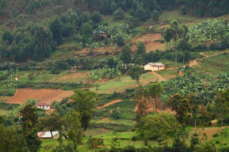 bunyoni: Rural farm communitiy on Lake Bunyoni, Uganda