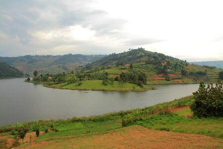 bunyoni: A terraced island in Lake Bunyoni, Uganda
