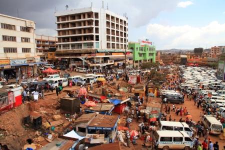 KAMPALA, UGANDA - SEPTEMBER 28, 2012   A look at daily life on the streets of Kampala, Uganda on September 28,2012