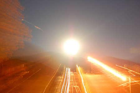 夜の明かり 写真素材