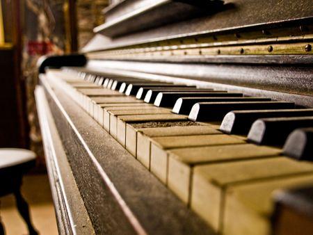 Piano with a missing key Reklamní fotografie