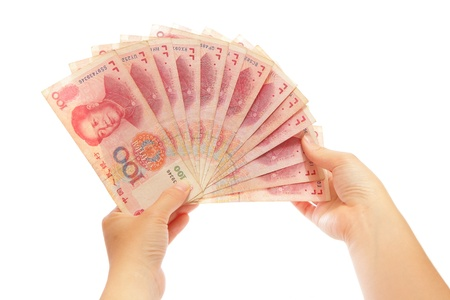Count Money on hand photo