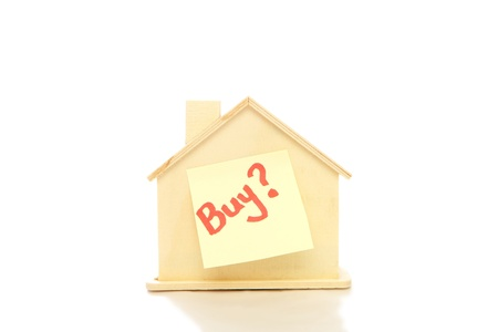 financial questions: Buy a house with white background