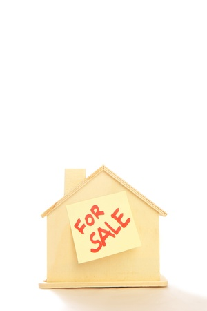 unemployment rate: House for sale with white background