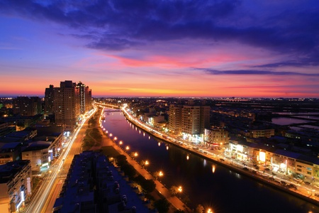 Beautiful Night Scene of A Canal