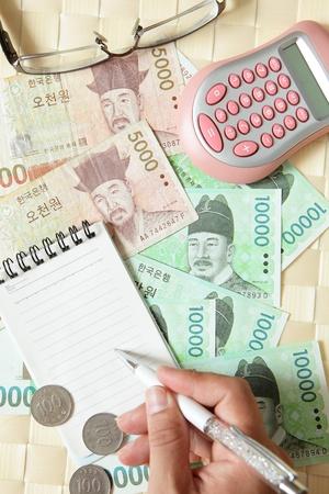 close look of korea money Stock Photo - 10729846