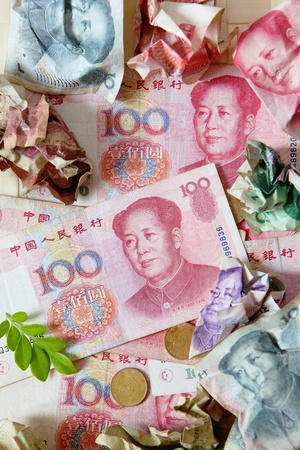 A close look at chinese yen photo
