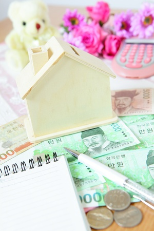Save money for a house Stock Photo - 10729506