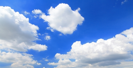 sky scape: nature background. white clouds over blue sky  Stock Photo
