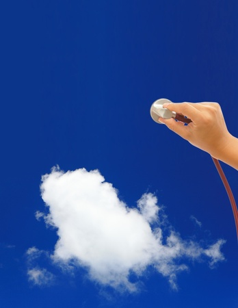 Diagnose cloud computing concept photo